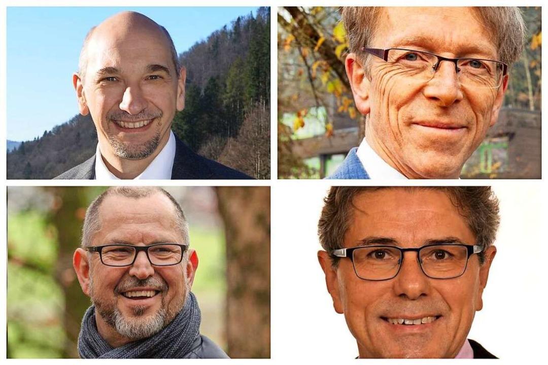 Vier Männer bewerben sich um das Amt d...l, Harald Reinhard und Herbert Bucher.  | Foto: Collage: BZ
