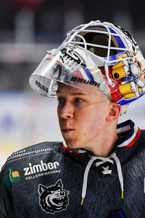 Ben Meisner ist Eishockey-Torwart geworden, weil sein Vater einer war.  | Foto: Patrick Seeger