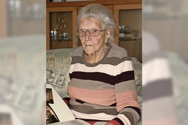 Mit 102 ist sie immer noch gerne unterwegs