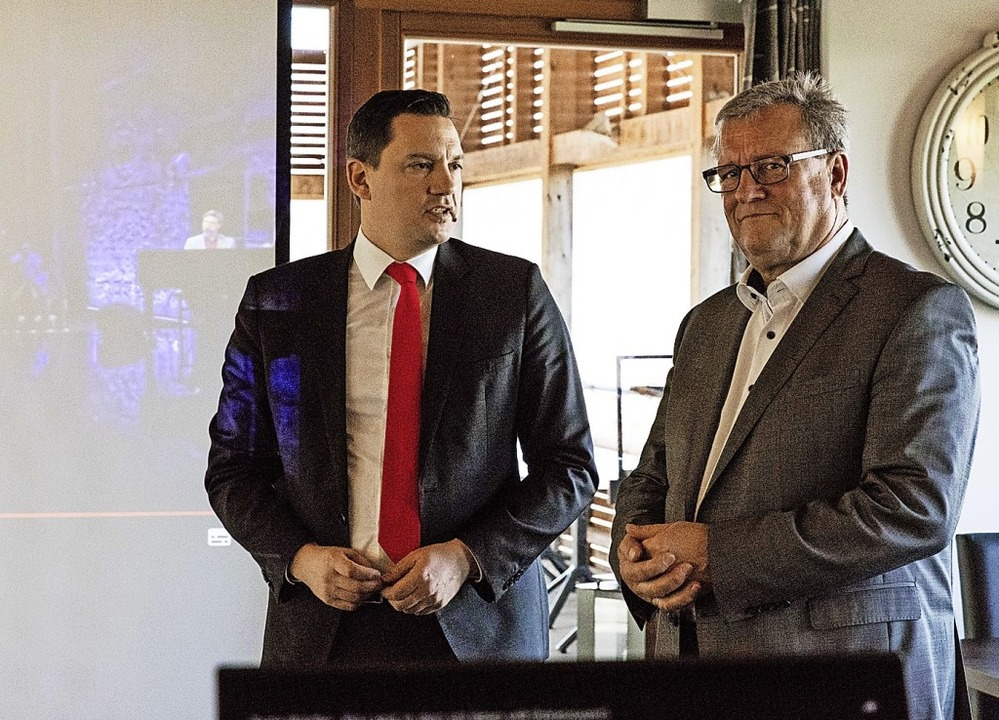 Johannes Fechner und Michael Stoltenburg (von links).   | Foto: Gabriele Zahn