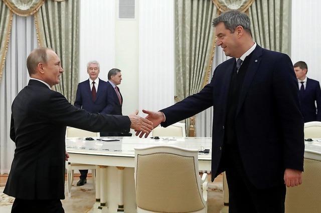 Söder verteidigt bei Putin die Sanktionen