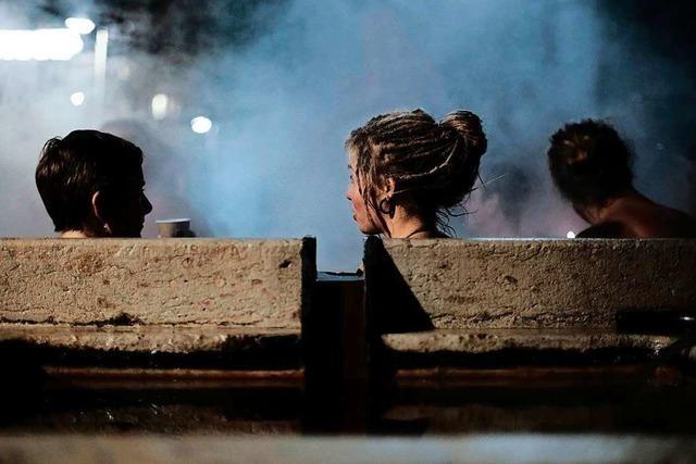 In Basel kann man in beheizten Brunnen baden
