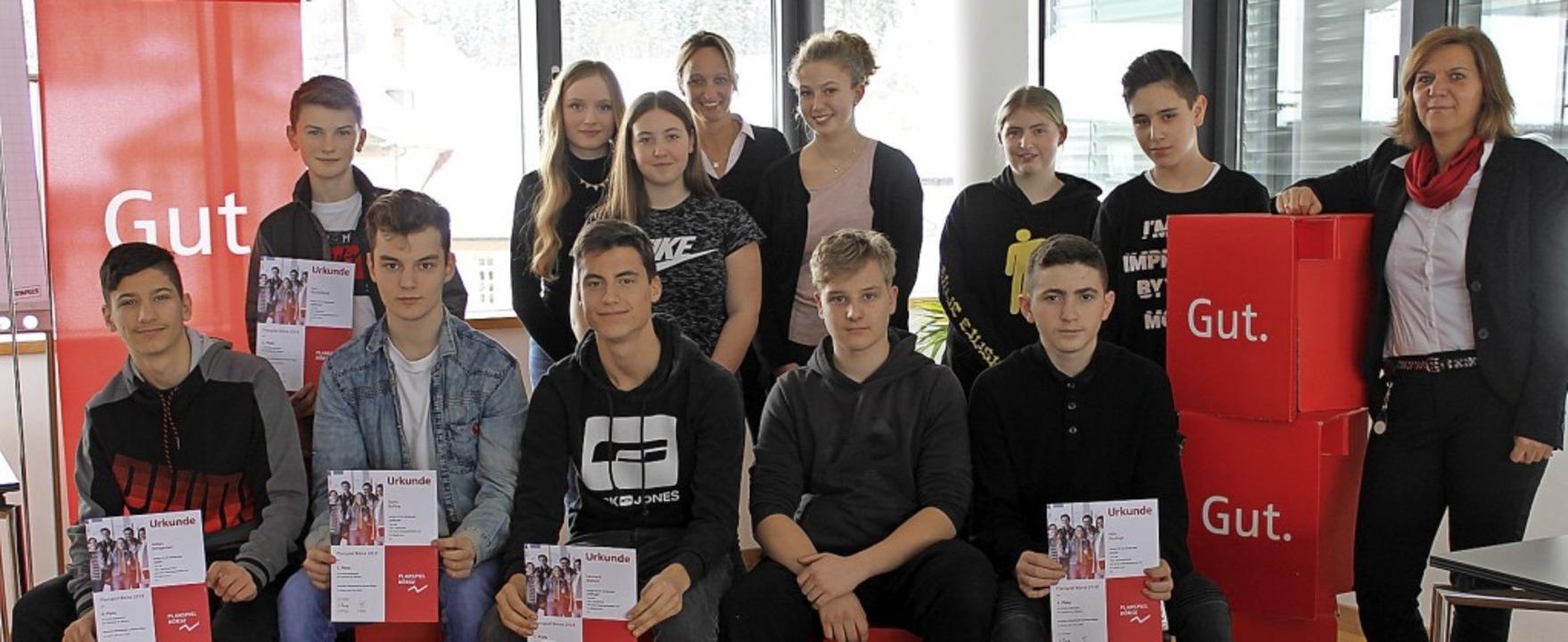 Die Erfolgreichsten des diesjährigen P...er (hintere Reihe, vierte von links).   | Foto: Cornelia Liebwein