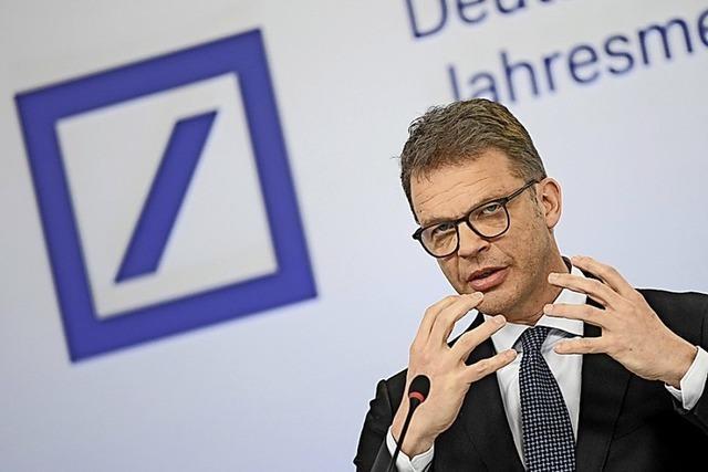 Chef der Deutschen Bank zuversichtlich