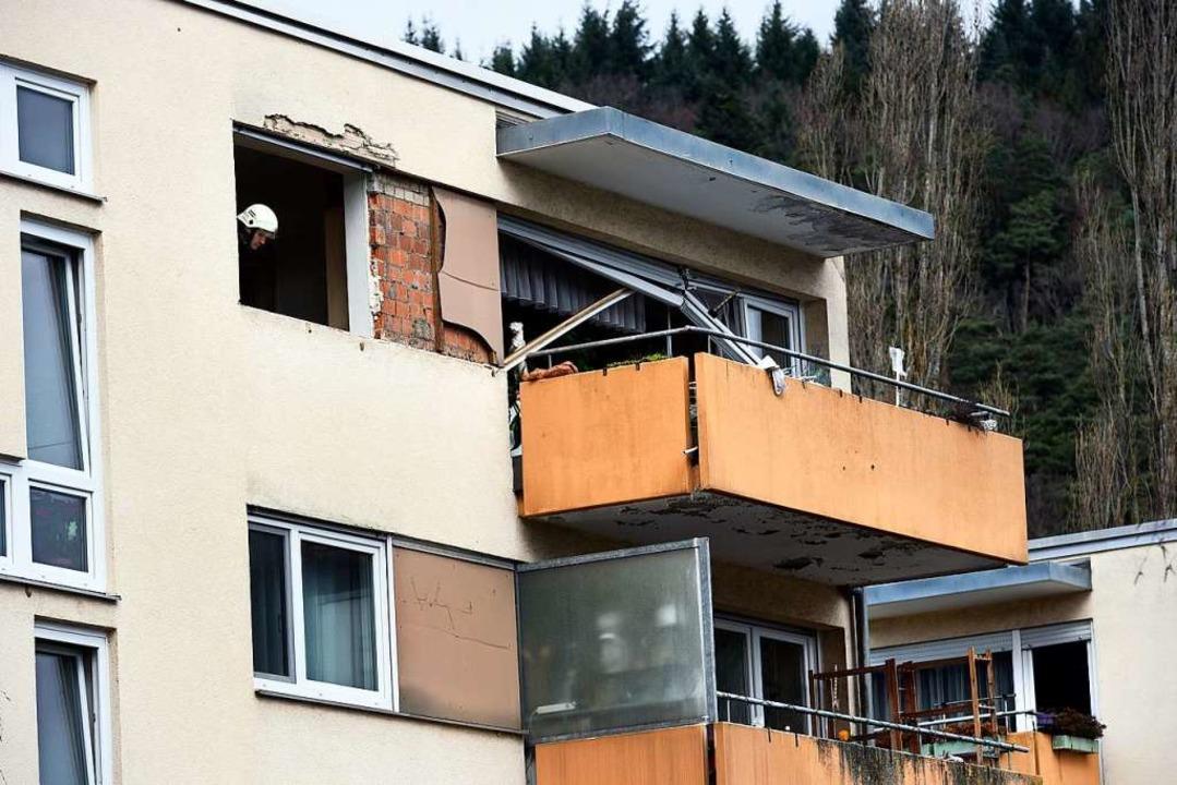 Im dritten Stock eines Wohnhauses in E...ühen Freitagmorgen zu einer Explosion.  | Foto: Thomas Kunz