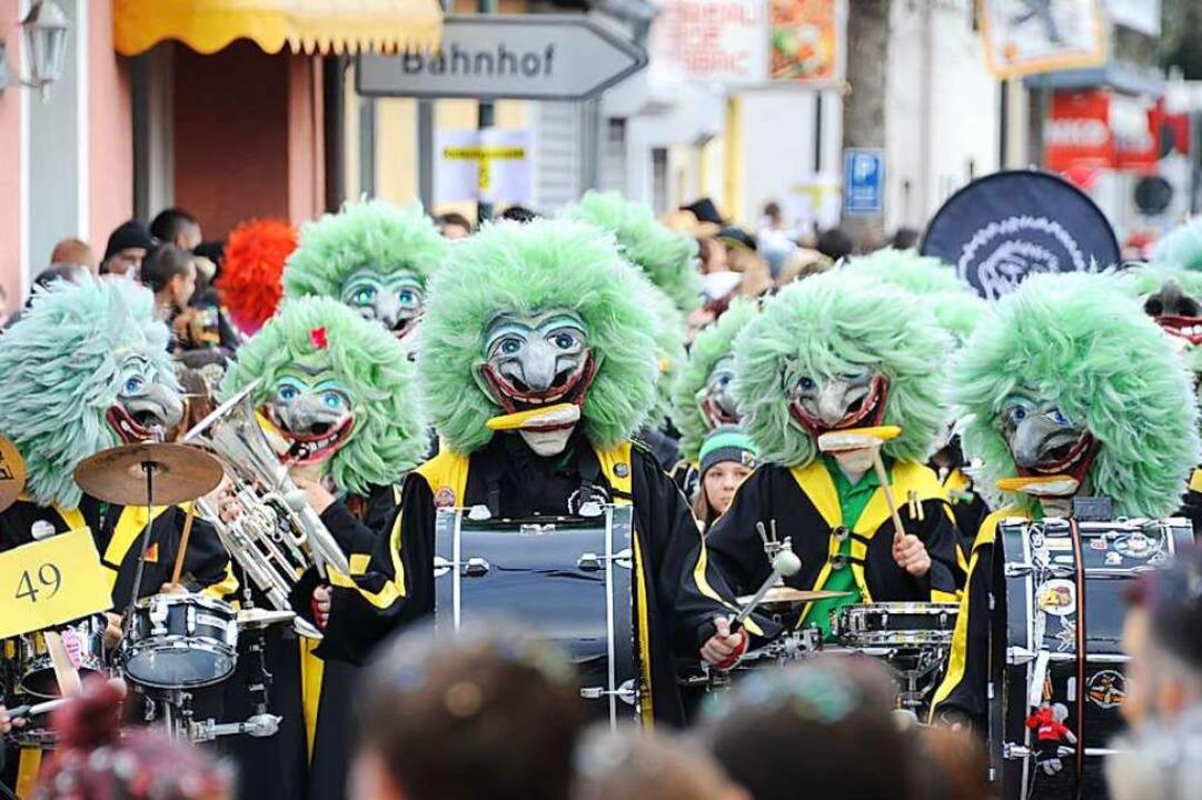Die Maiskolbefetzer aus Eschbach unter...chrägen Spielen bekannter Musikstücke.  | Foto: Dabrunz Photography