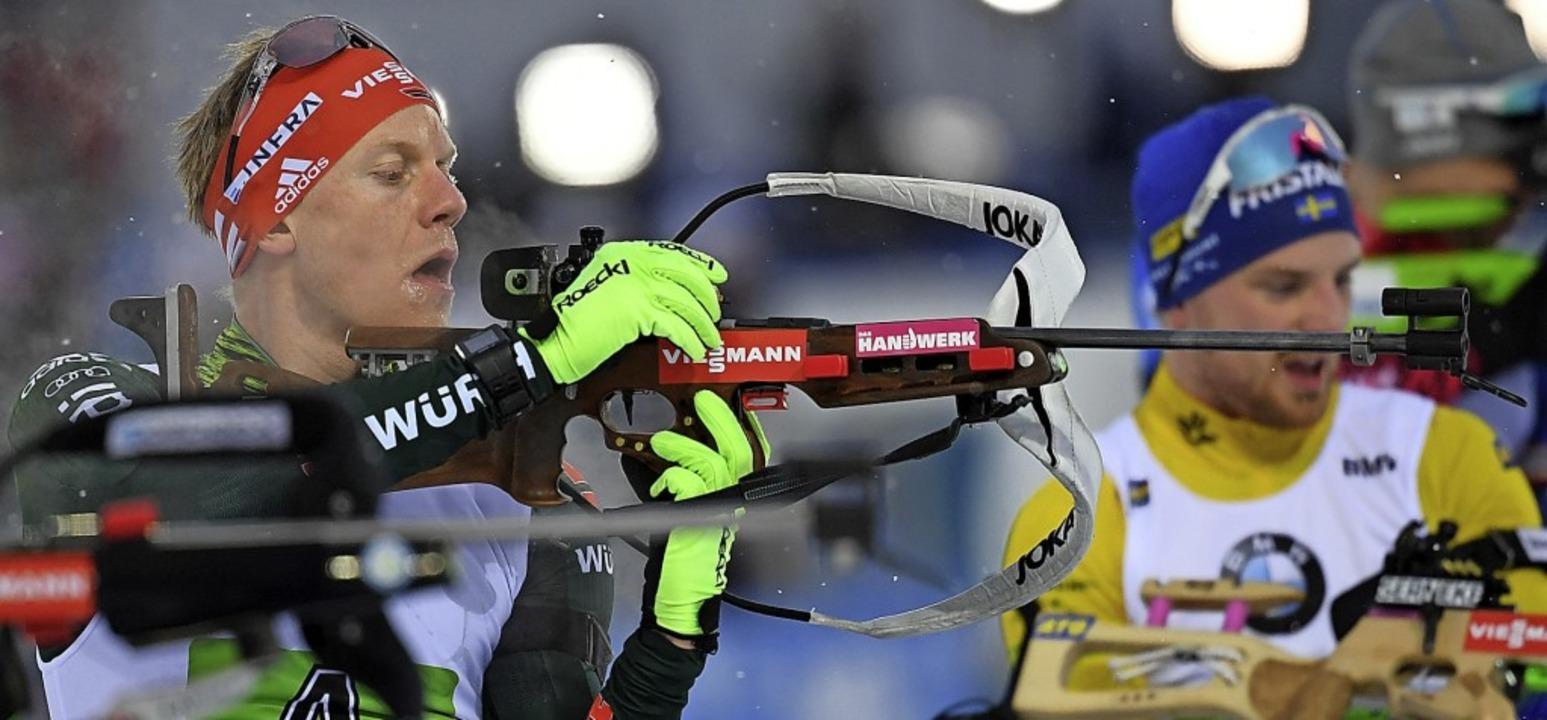 Roman Rees (SV Schauinsland) bei der Biathlon-WM in Östersund im März 2019   | Foto: Sven Hoppe