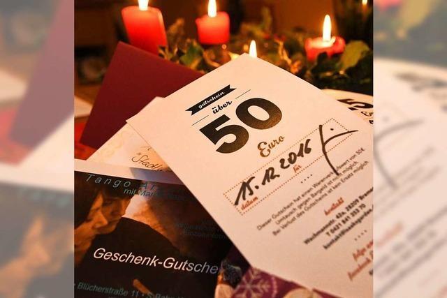 Geschenkgutscheine machen Anbietern und Beschenkten Stress
