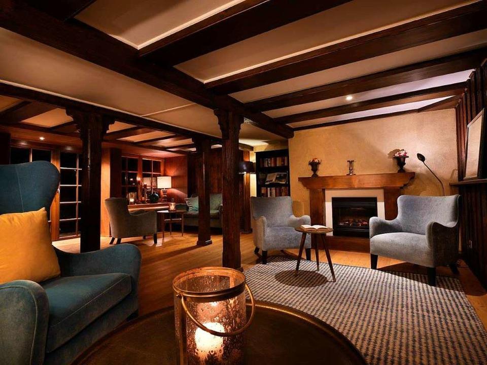 Blick in die Kamin-Lounge  | Foto: Mühle Schluchsee
