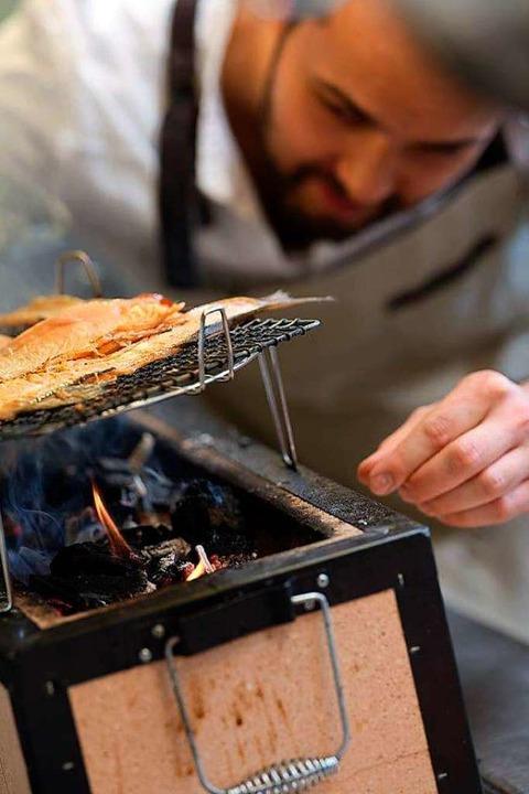 Max Goldberg am japanischen Grill  | Foto: Mühle Schluchsee