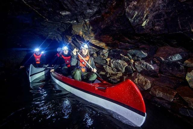 Bootstour durchs Bergwerk: Paddeln unter Tage im Harz