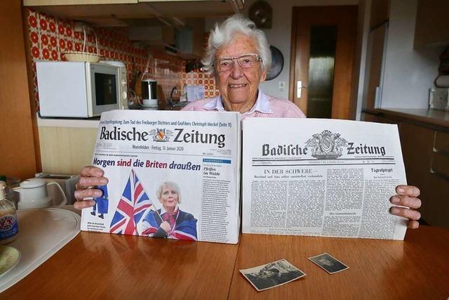 Seit 1946 kann sich Ulrike Grether ein Frühstück ohne BZ nicht vorstellen