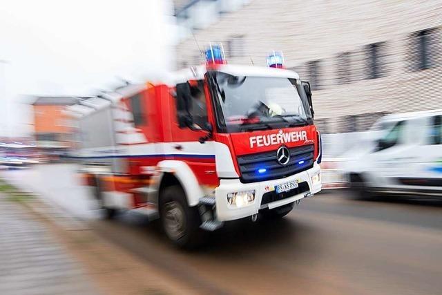 Brand im Dachgeschoss von Asylunterkunft in Waldkirch