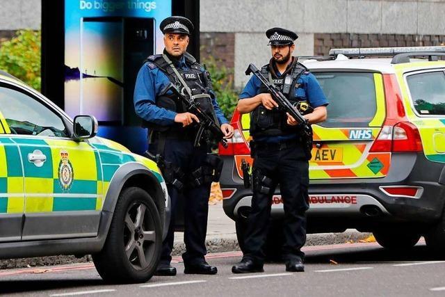Mann nach mutmaßlichem Terrorangriff von Londoner Polizei erschossen