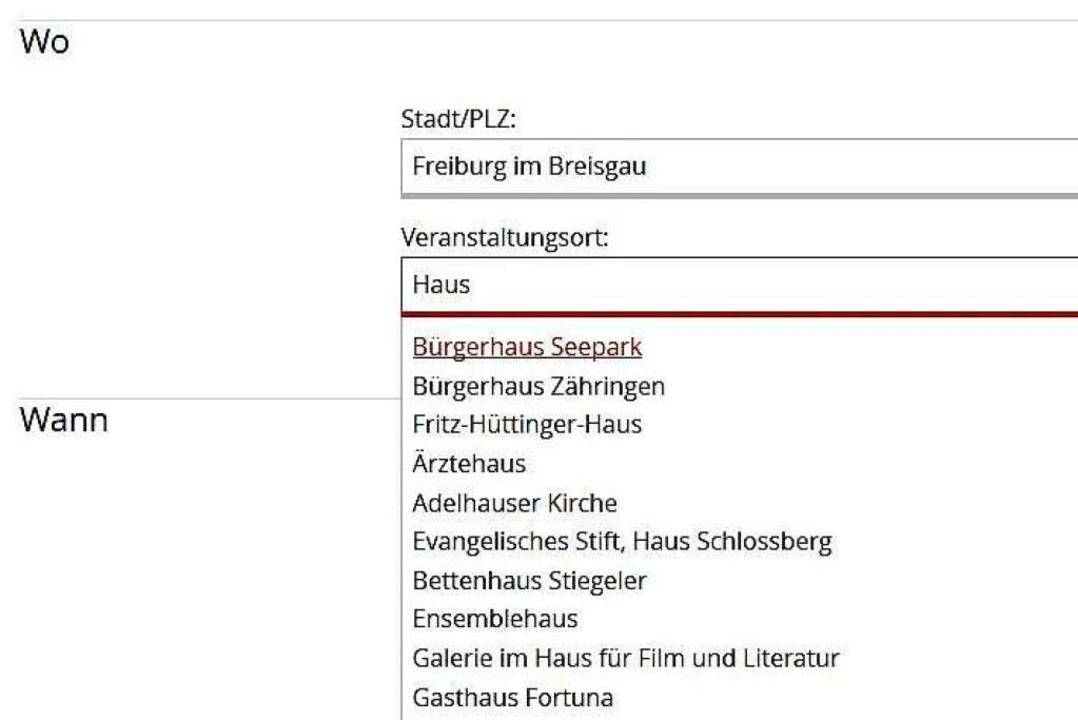 Nachdem Sie die Stadt oder Ortschaft e...er Liste der Suchergebnisse auswählen.  | Foto: bz-ticket.de