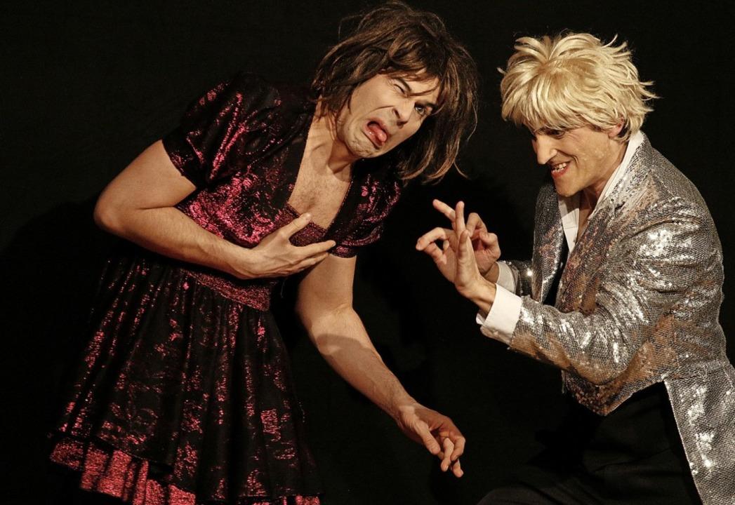 Mimik und Gestik sagen alles beim Duo Mimikry.   | Foto: Heidi Fößel