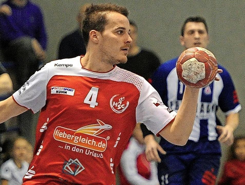 <BZ-FotoAnlauf>HSG Ortenau Süd:</BZ-Fo...f> Johannes Betzler gelangen 14 Tore.     Foto: Pressebüro Schaller