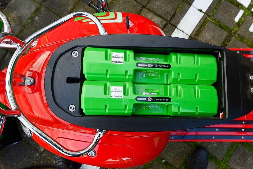 E-Roller mit frischen Akkus    Foto: Ingo Schneider