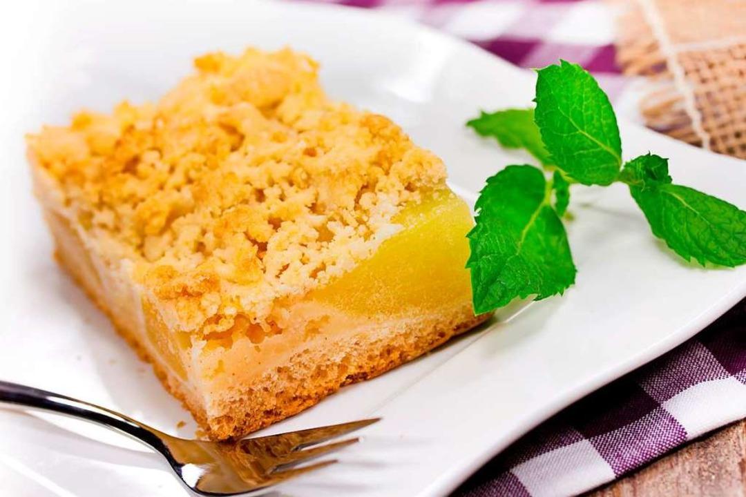 apfelkuchen vom blech mit streusel rührteig