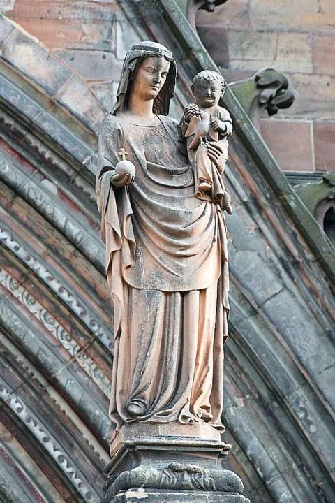 Die Skulptur von Maria, der Schutzpatr...o Lange nach dem Zweiten Weltkrieg an.  | Foto: Sebastian Krüger