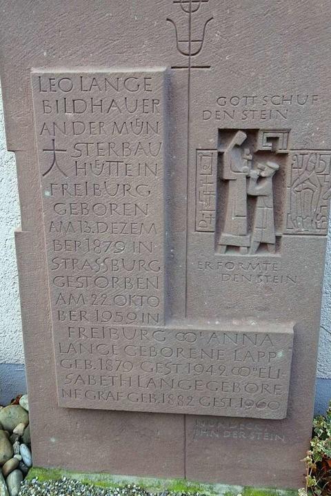 Der Grabstein von Leo Lange steht im Garten seines Enkels und Namensvetters.  | Foto: Leo Lange