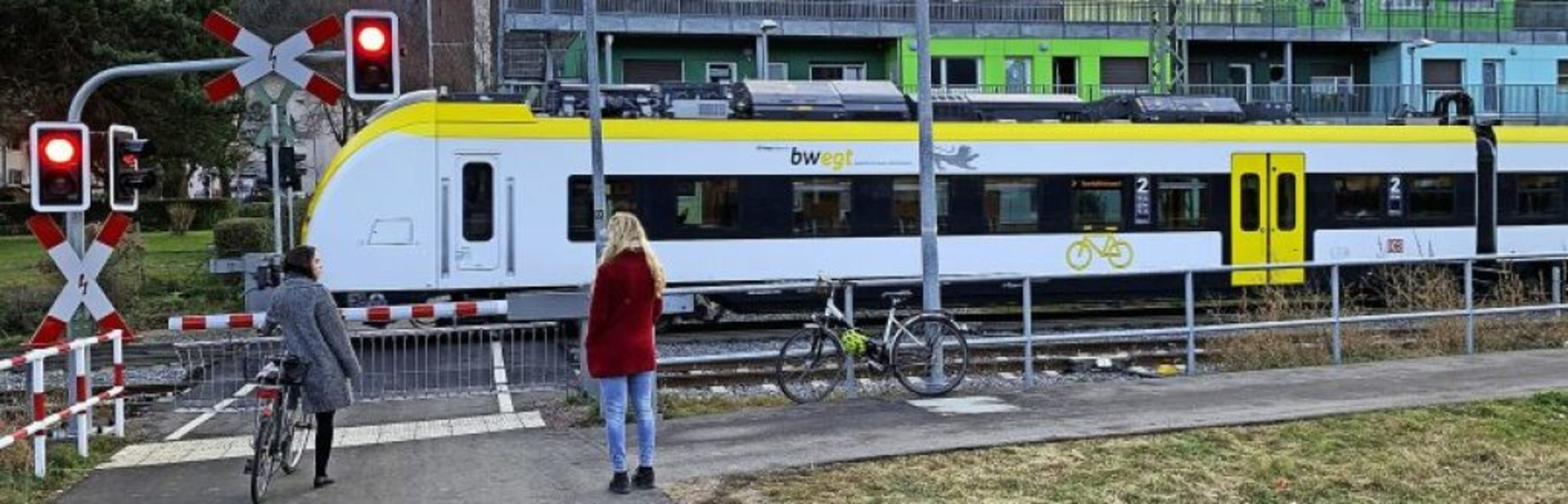 Eine S-Bahn am Bahnhof Littenweiler   | Foto: Peter Sliwka