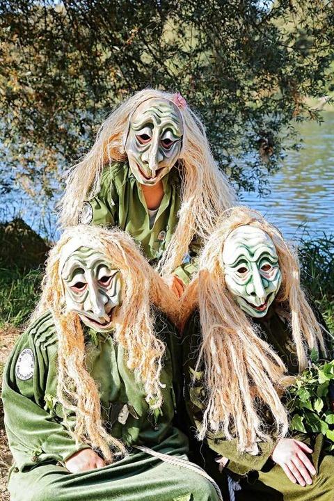 Wer den Rheingeistern aus Hartheim beg...er sind: Mystische Geister des Rheins.    Foto: Sabrina Hoch / Die Photo Lounge