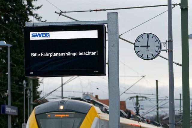 Neues Infosystem informiert über nächste Züge der Kaiserstuhlbahn-Ost