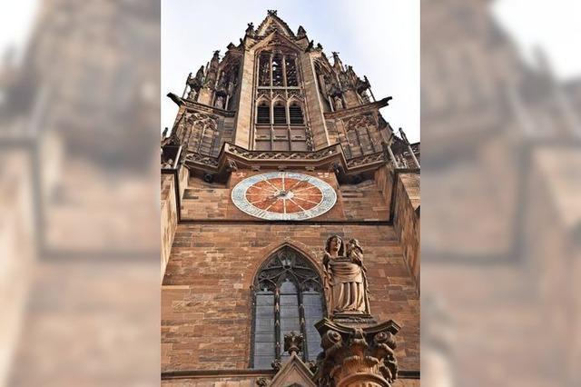 Am Freiburger Münster verewigt