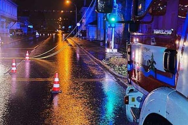 Sturmtief beschert den Feuerwehren eine kurze Nacht