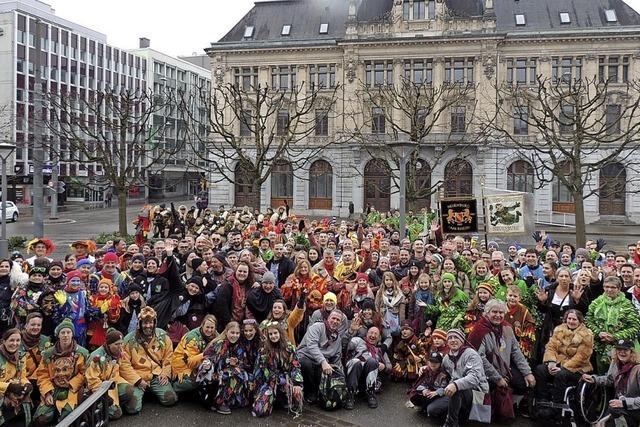Neuenburger Narren bei Zähringer-Treffen