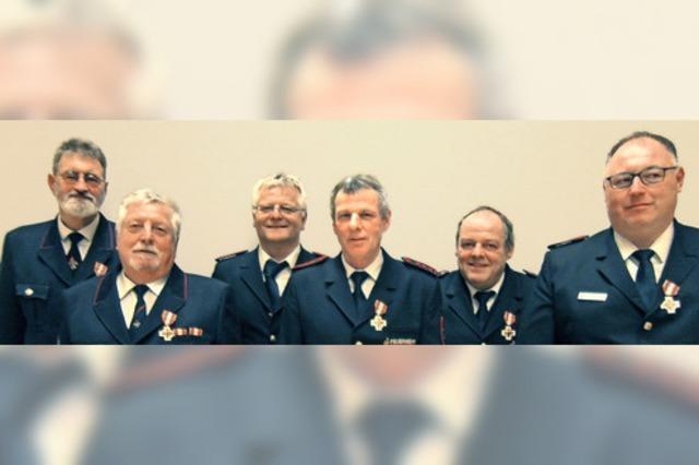 Verdiente Feuerwehrmänner
