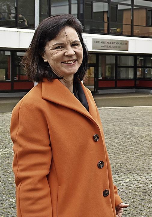 Tosca Vogt am Schulzentrum  | Foto: Maja Tolsdorf