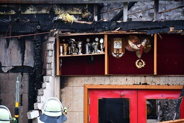 Wird der SV Inzlingen seine abgebrannte Halle wieder aufbauen?
