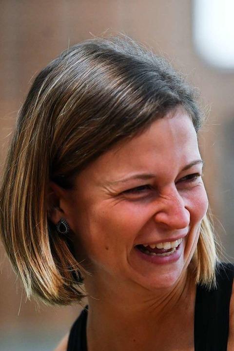 Die Wyhler Trainerin Sina Binder hat t...obleme ihre gute Laune nicht verloren.    Foto: Patrick Seeger