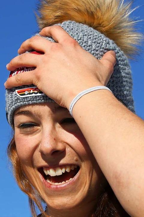 "Frohnatur mit rollendem ""R"": Skicrosserin Daniela Maier  | Foto: Joachim Hahne"
