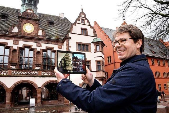Mit der Zeitreise-App auf Tour durch Freiburg