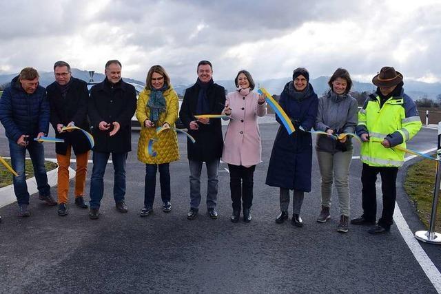 Kreisverkehre an der B3 bei Bad Krozingen offiziell eingeweiht