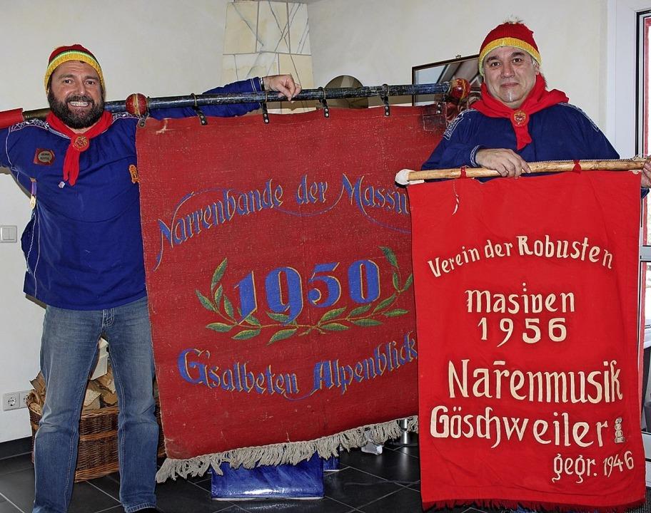 Wo liegt der Ursprung der Göschweiler ...n mehr über die beiden Fahnen wissen.   | Foto: Christa Maier