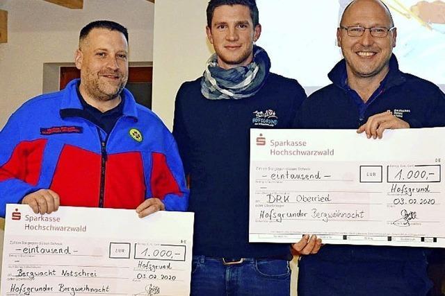 Spenden für Bergwacht und Rotes Kreuz