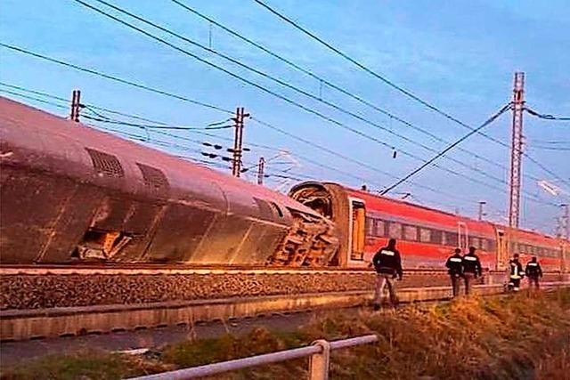 Zwei Tote bei Zugunglück südöstlich von Mailand