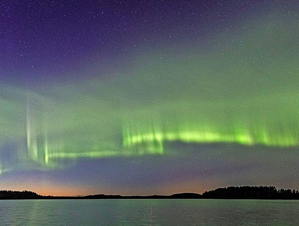 Die dünenartigen Polarlichter  | Foto: Kari Saari (dpa)
