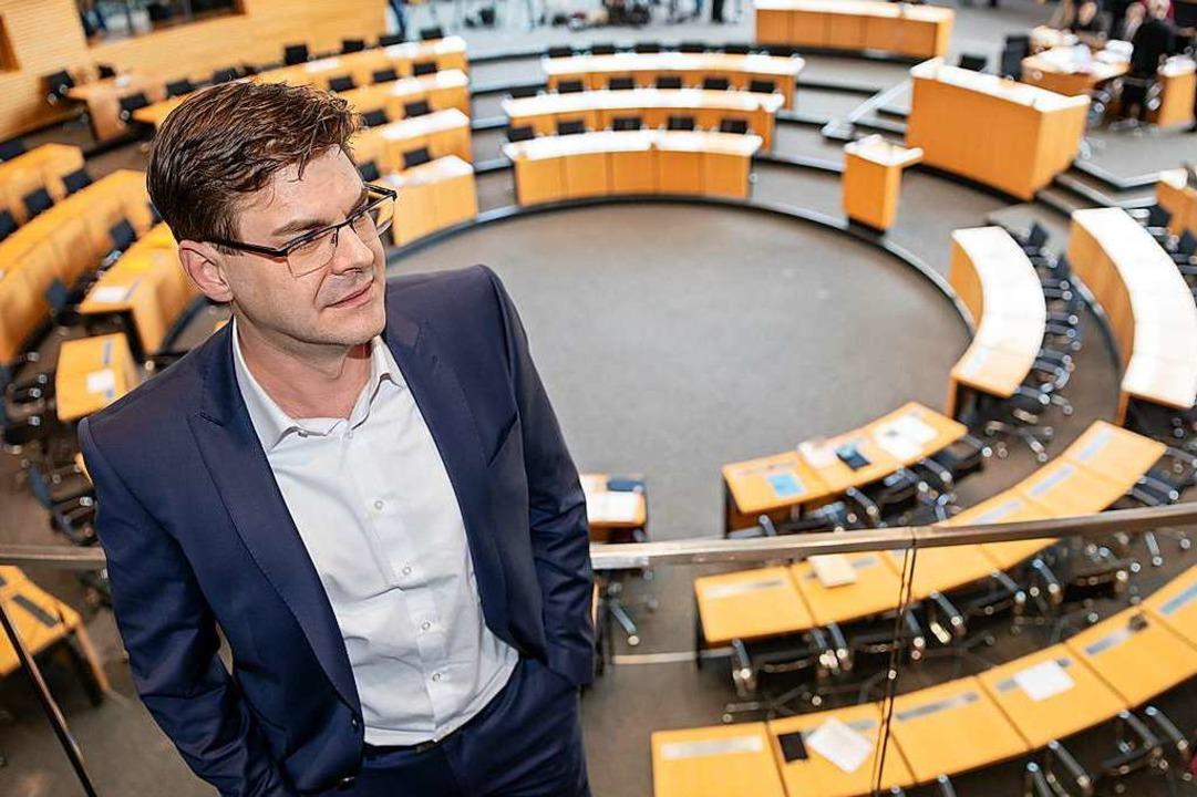 Christoph Kindervater war Kandidat der AfD fürs Ministerpräsidentenamt.  | Foto: Michael Reichel (dpa)