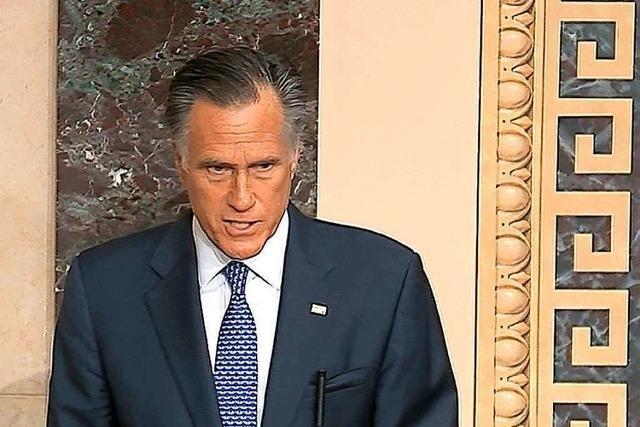 Mitt Romney und seine Rebellion gegen Trump