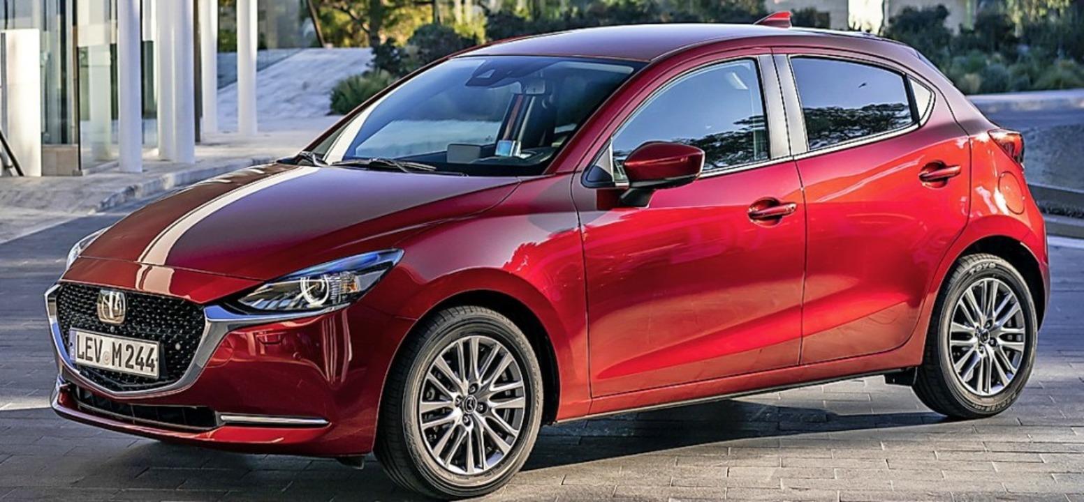 Äußerlich und technisch aktualisiert: der Mazda2    Foto: Mazda