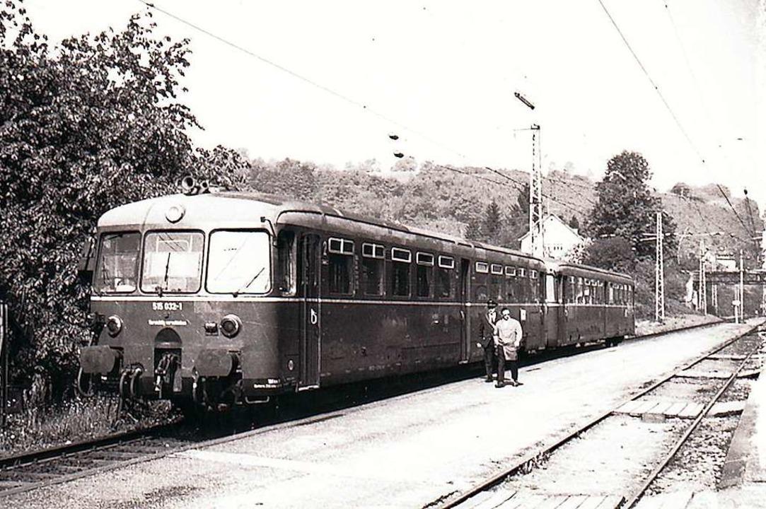 Bis 1971 fuhren die Züge noch durch  Wehr.  | Foto: Ernst Brugger