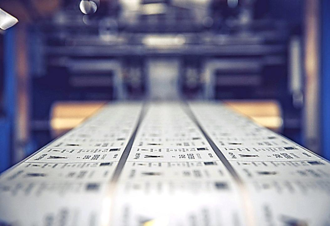 Etiketten sind die Spezialität des traditionsreichen Endinger Unternehmens.  | Foto: Vollherbst Druck