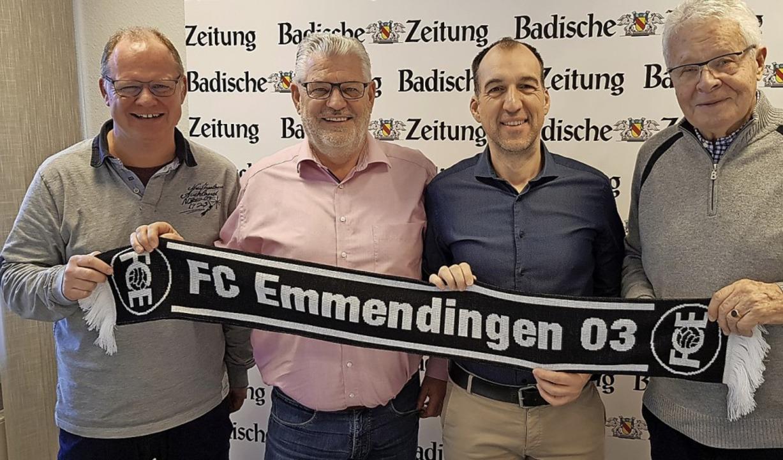 Ziehen an einem Strang: die Vorstandsm...testenrats, Gernot Wibel (von links).   | Foto: Gerhard Walser