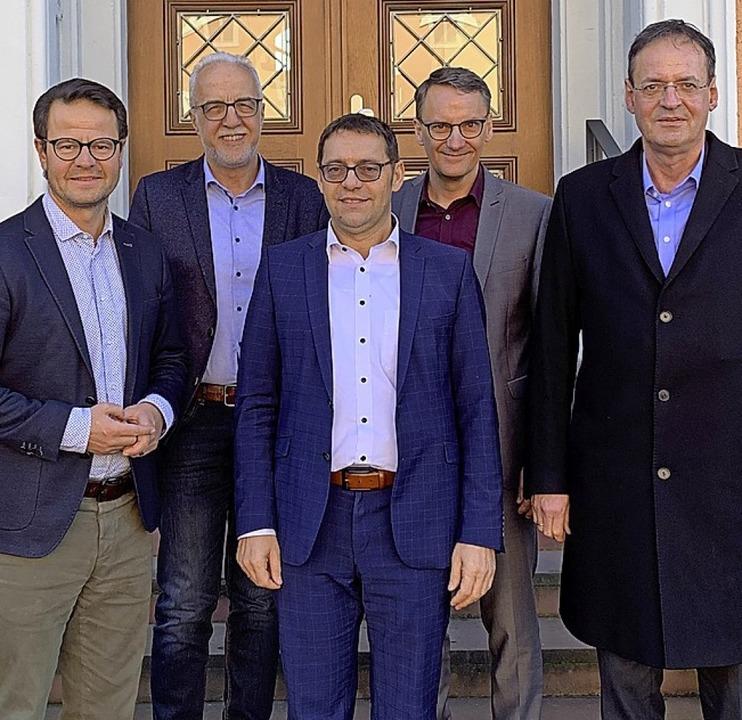 Ortenauer G5-Gipfel (v. l.): Marco Ste...ach, Markus Ibert  und Matthias Braun.  | Foto: Stadt Achern