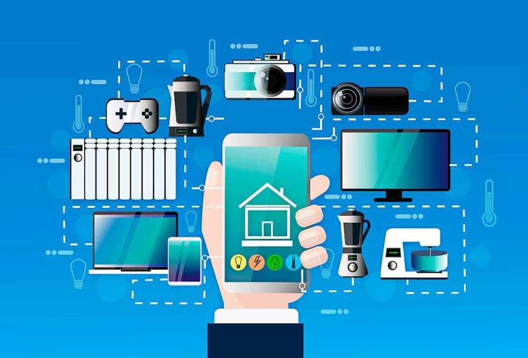 Im sogenannten Smarthome kann man mit ... allerlei Geräte bedienen, <ppp></ppp>  | Foto: mast3r (stock.adobe.com)